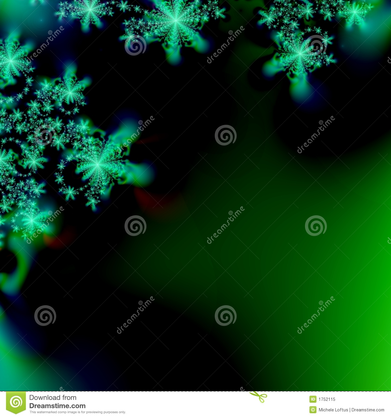 Abstract Snowflake Background Template Royalty Free Stock