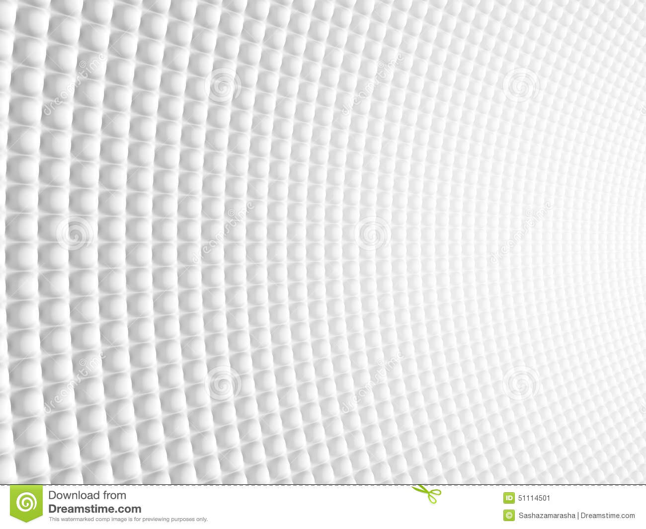 Abstract Spheric Geometric Curved White Background Modern
