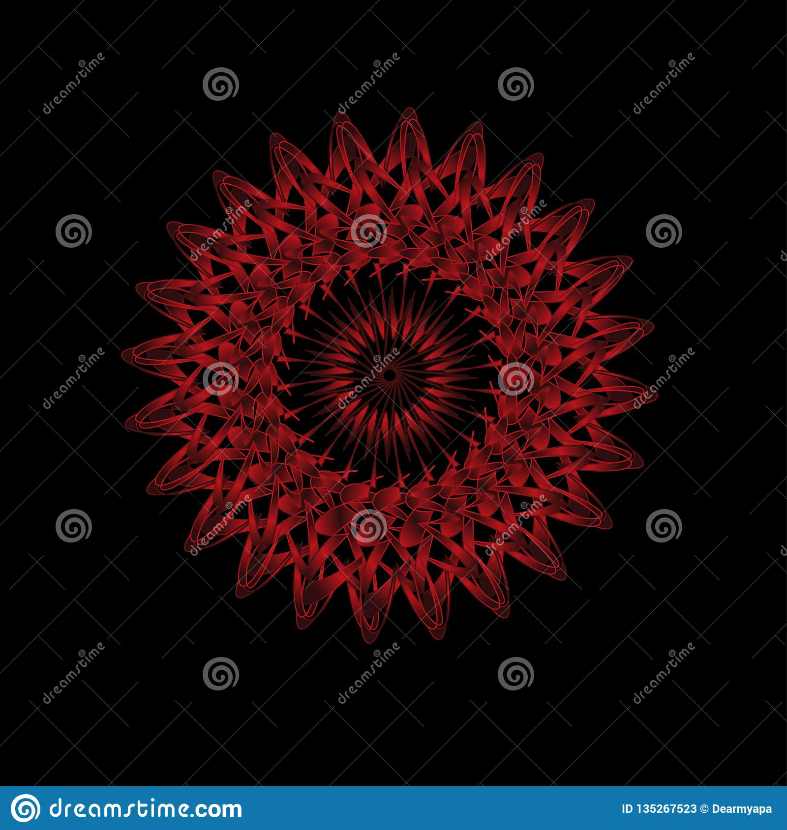 Abstract Spirograph Art Parabolic Curve Of Line In
