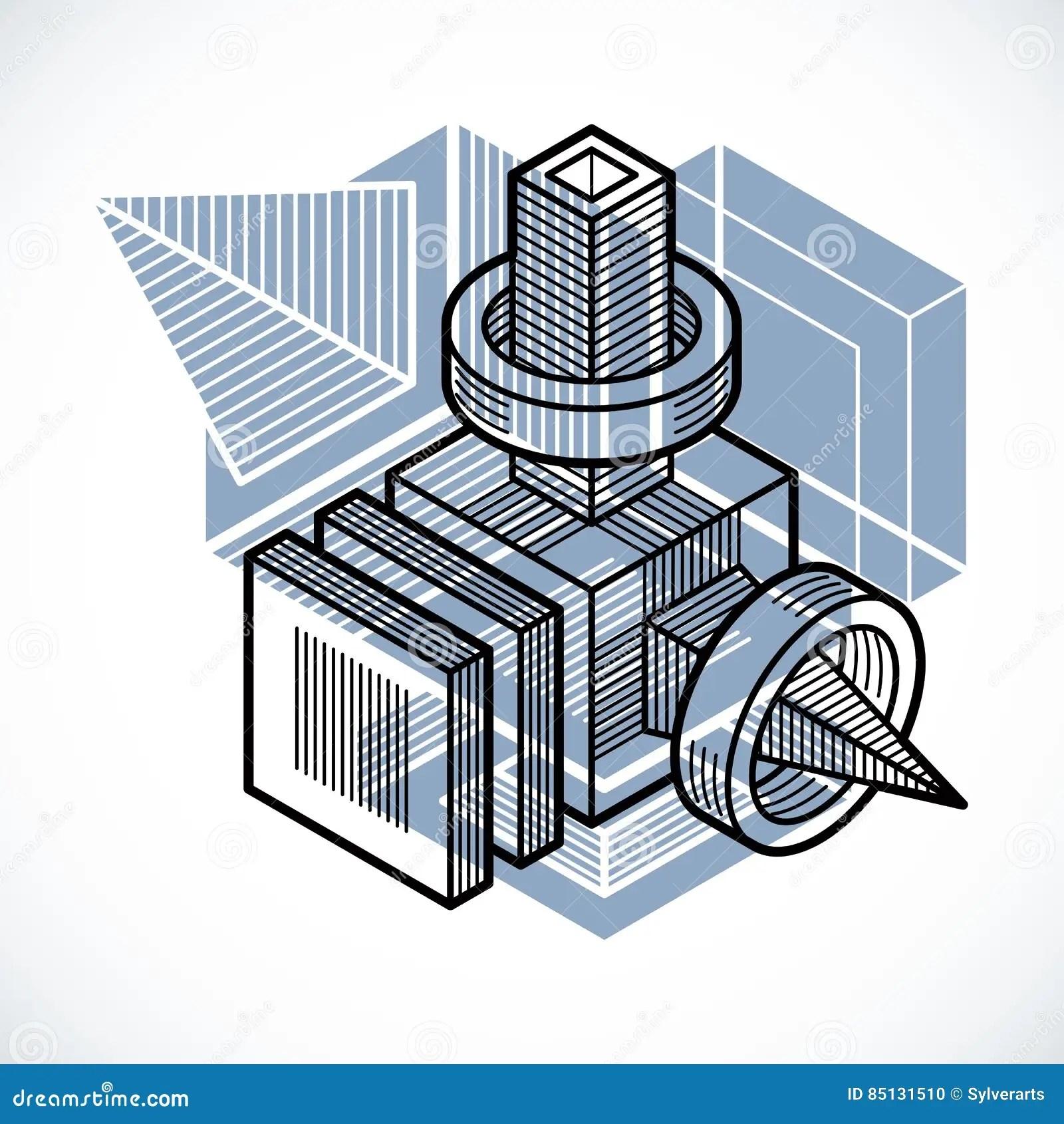 Abstract Vector Geometric Form 3d Creative Shape Stock