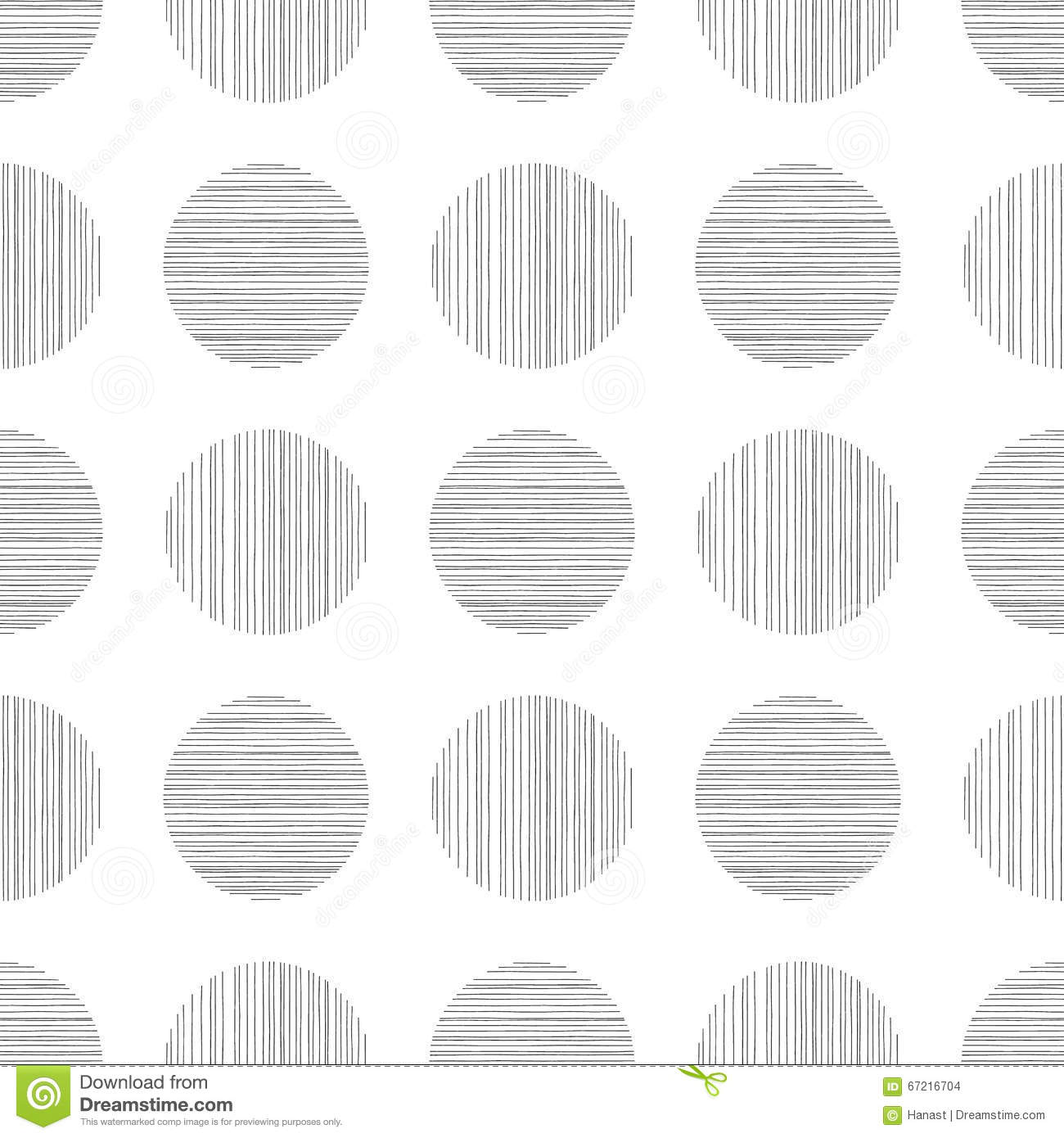 Abstract Vector Ink Pen Doodle Monochromatic Background