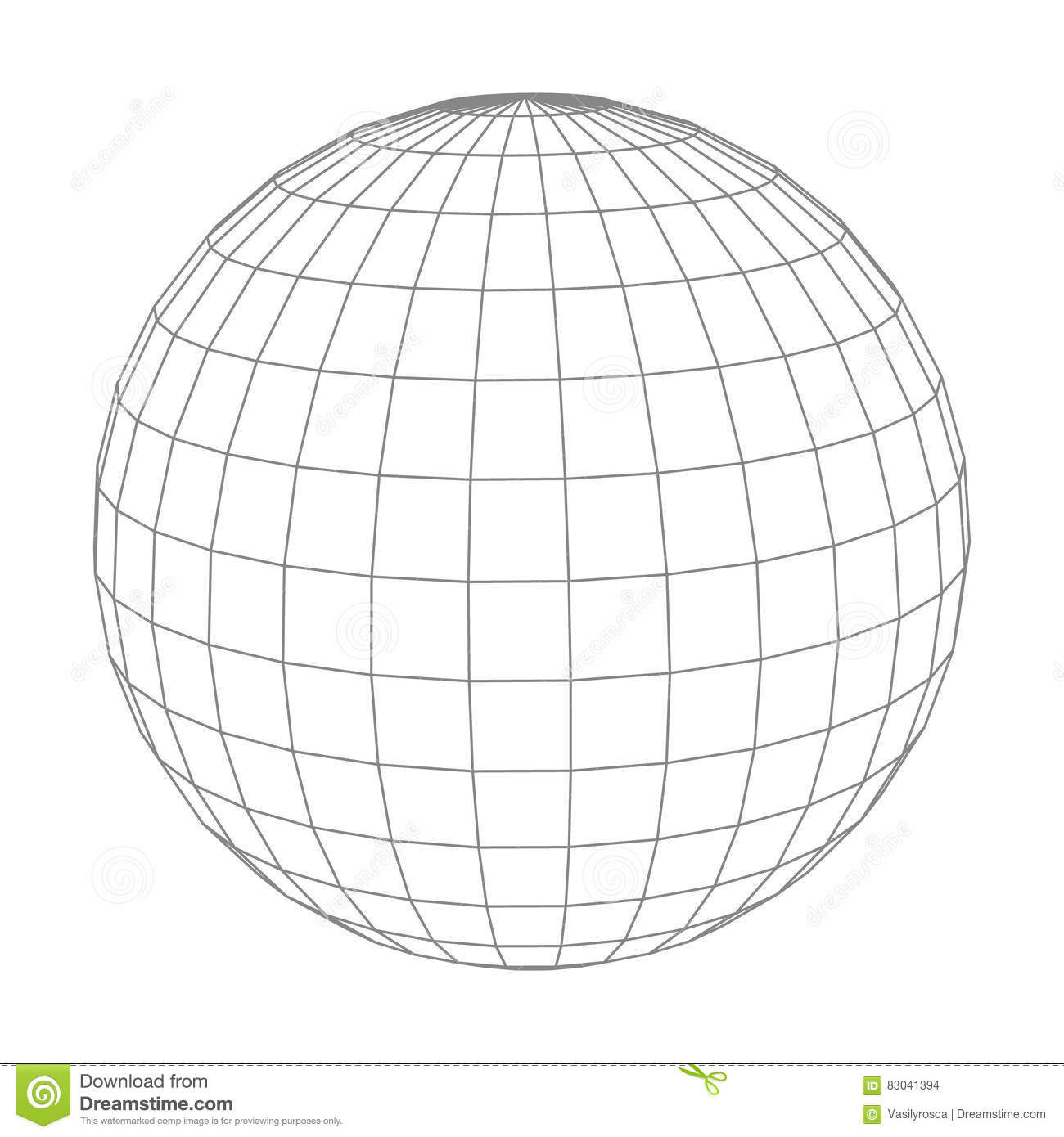 Globe Grid Reflection