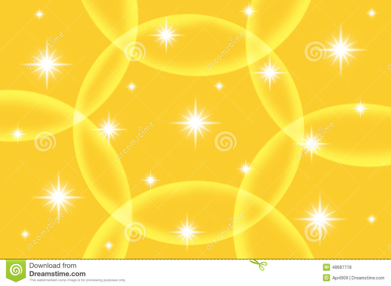 abstract yellow color background with star stock illustration image