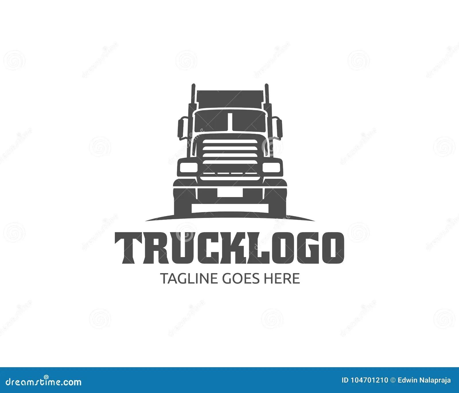 Acarree El Logotipo Logotipo Del Cargo Camiones Del
