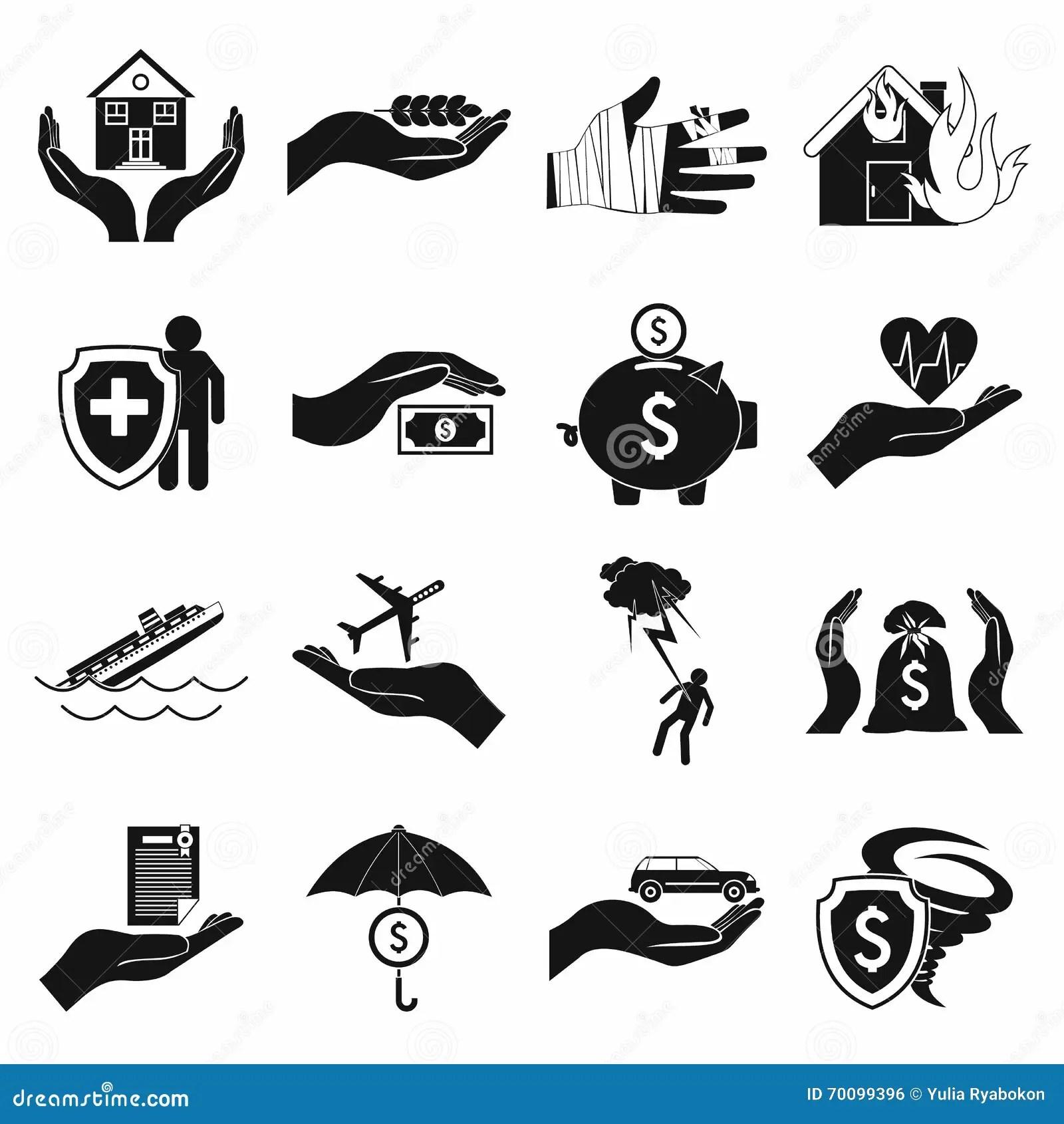 Flood Icon Simple Style Vector Illustration