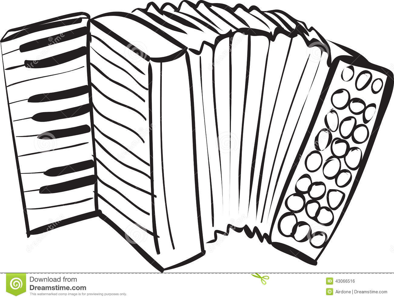Accordion Doodle Stock Vector
