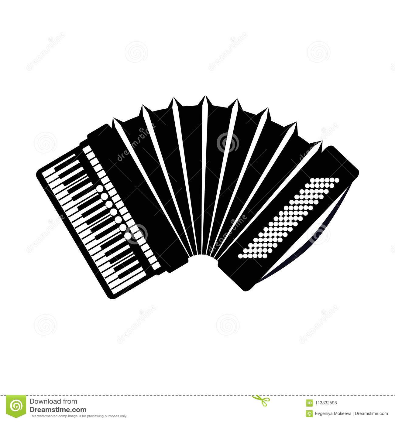 Old Concertina Stock Image