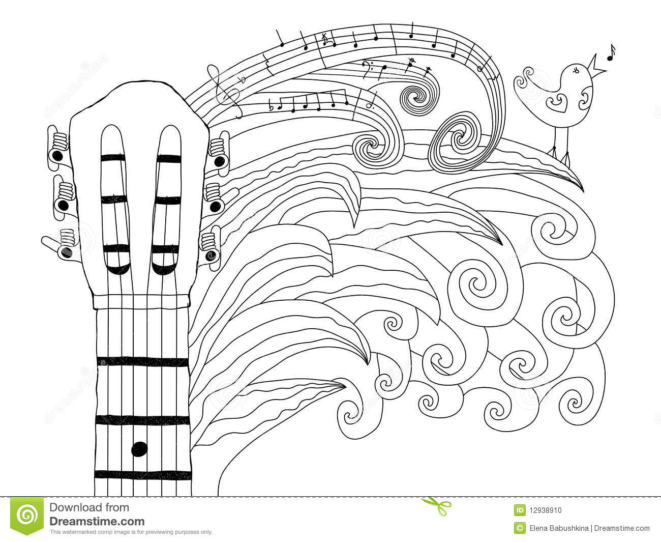 Acoustic Guitar Stock Vector Illustration Of Acoustic