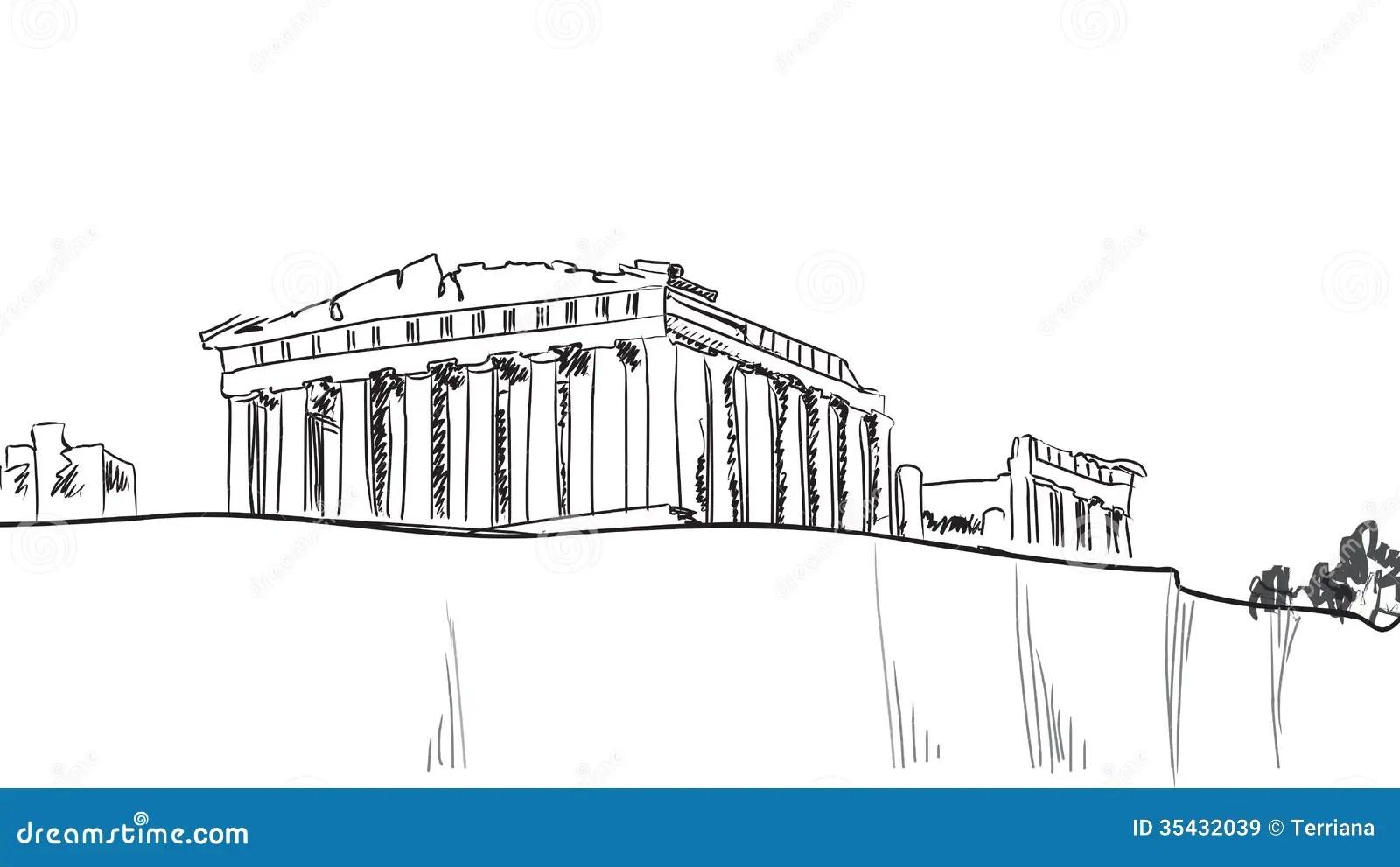 Acropolis Hill In Athens European Travel Destination