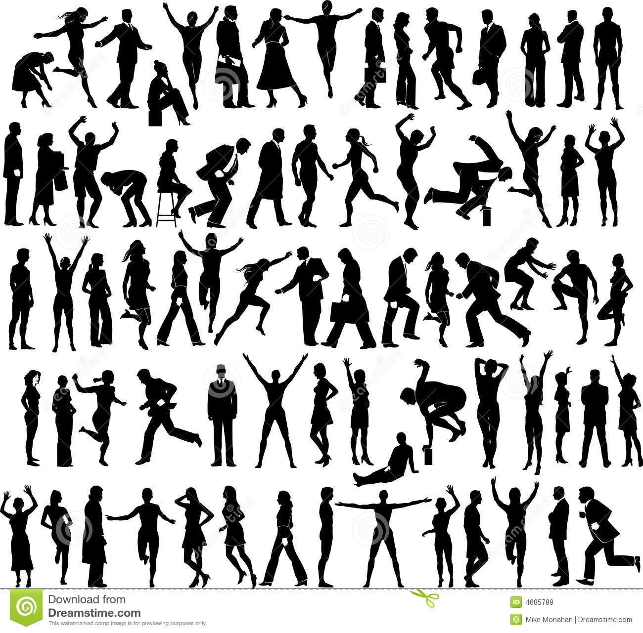 Active People Collection Stock Vector Illustration Of