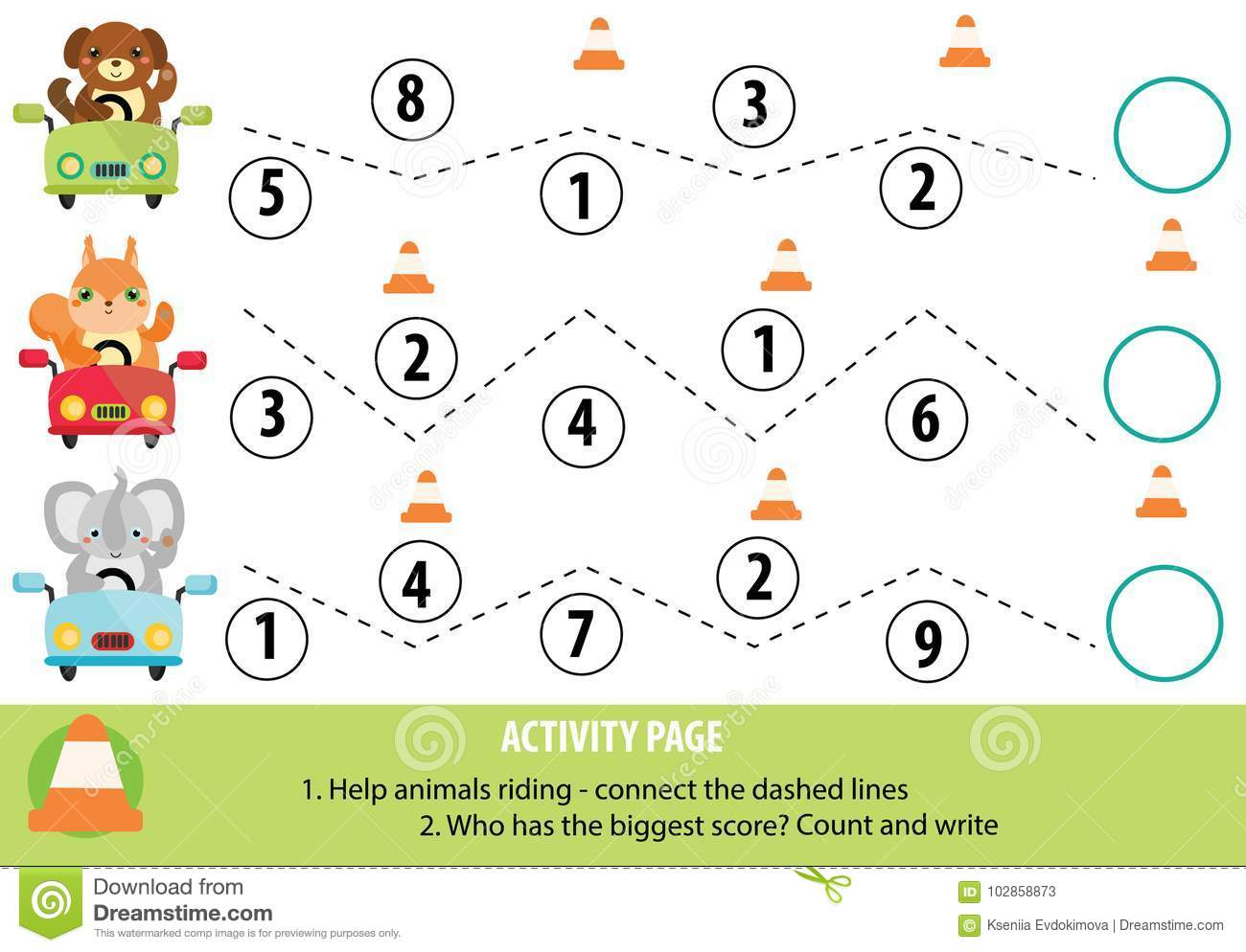 Activity Page For Children Handwriting Practice And