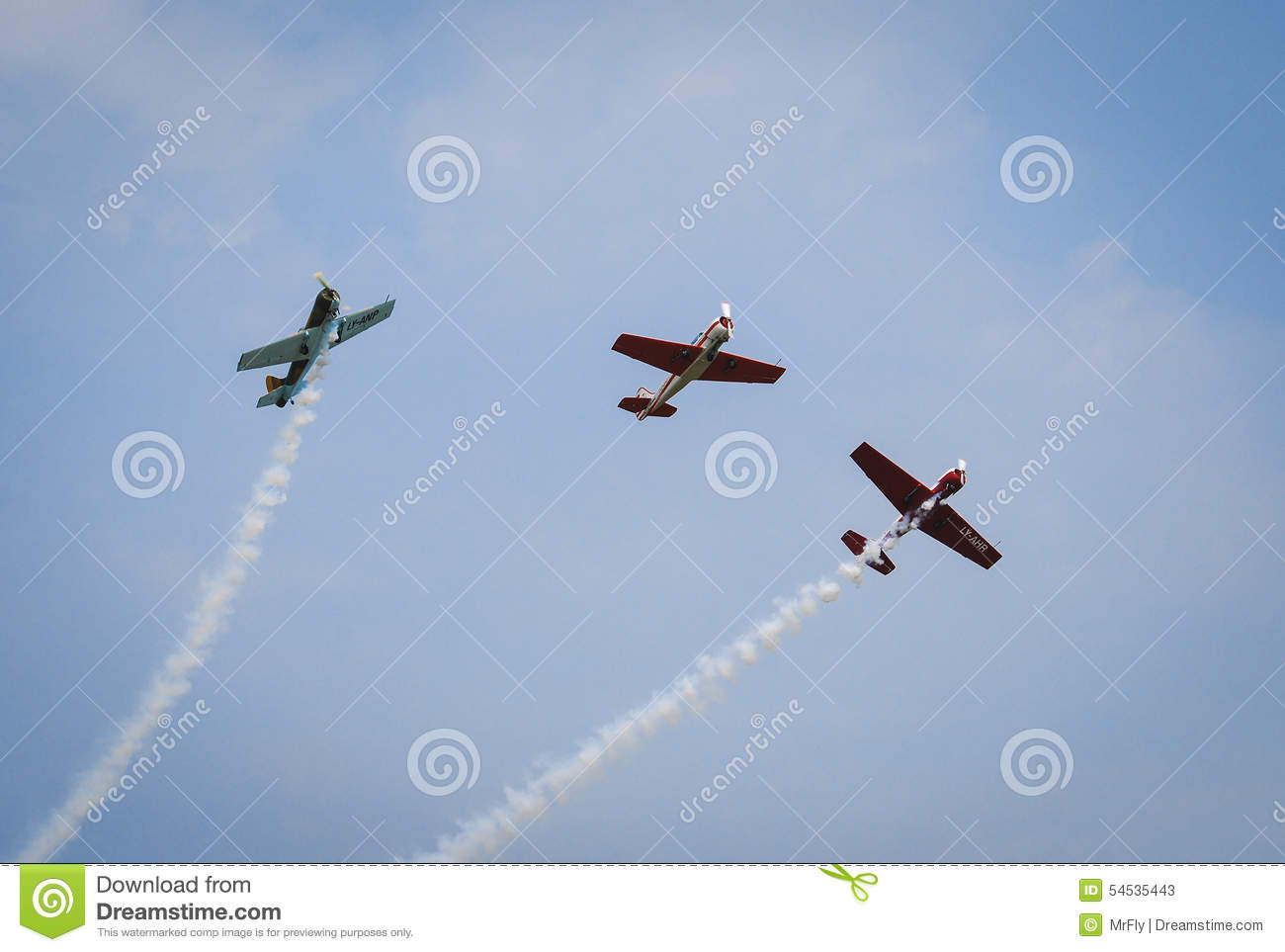 Aerobatic Planes In The Sky Editorial Stock Photo Image