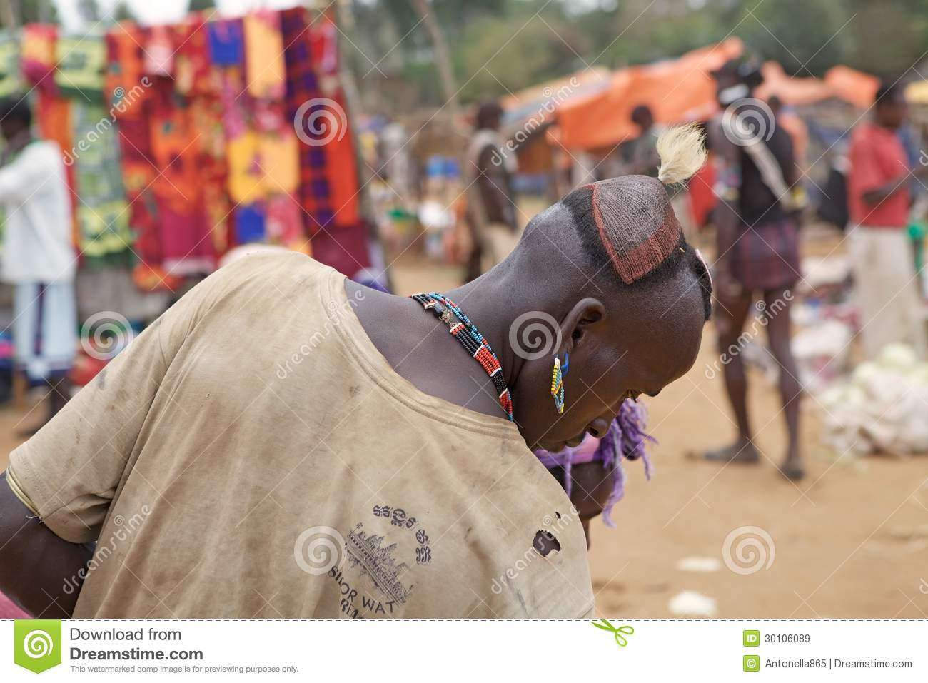 African Man Hair Style Editorial Stock Image Image 30106089