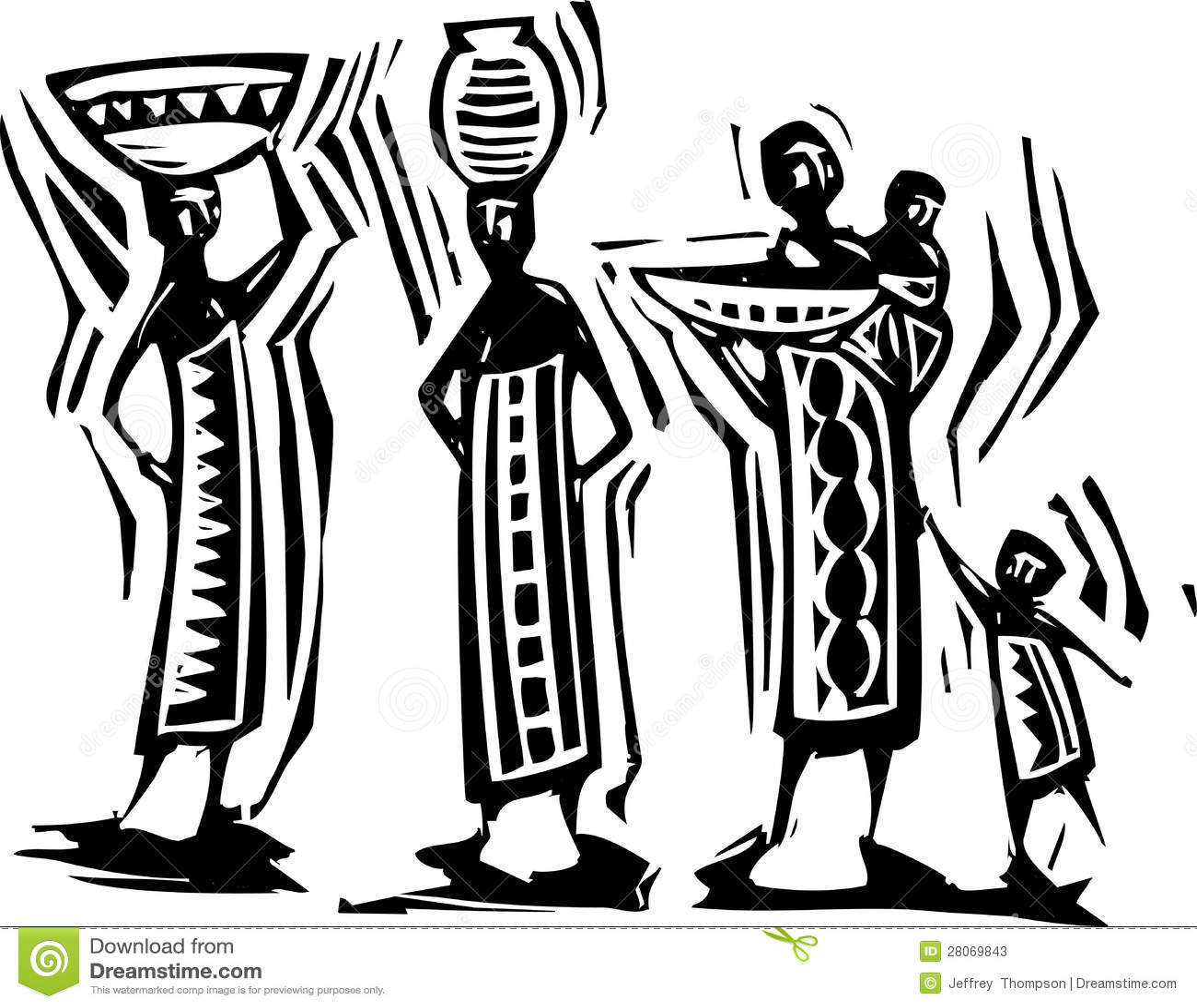 African Women Stock Vector Illustration Of Africa