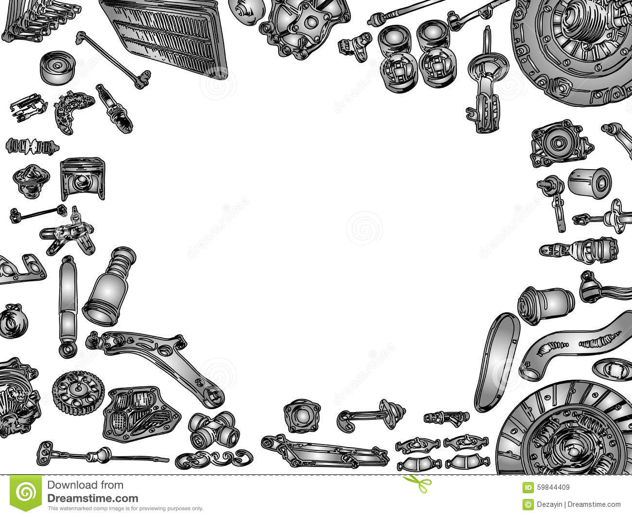 Aftermarket Spare Parts Stock Vector Illustration Of Part