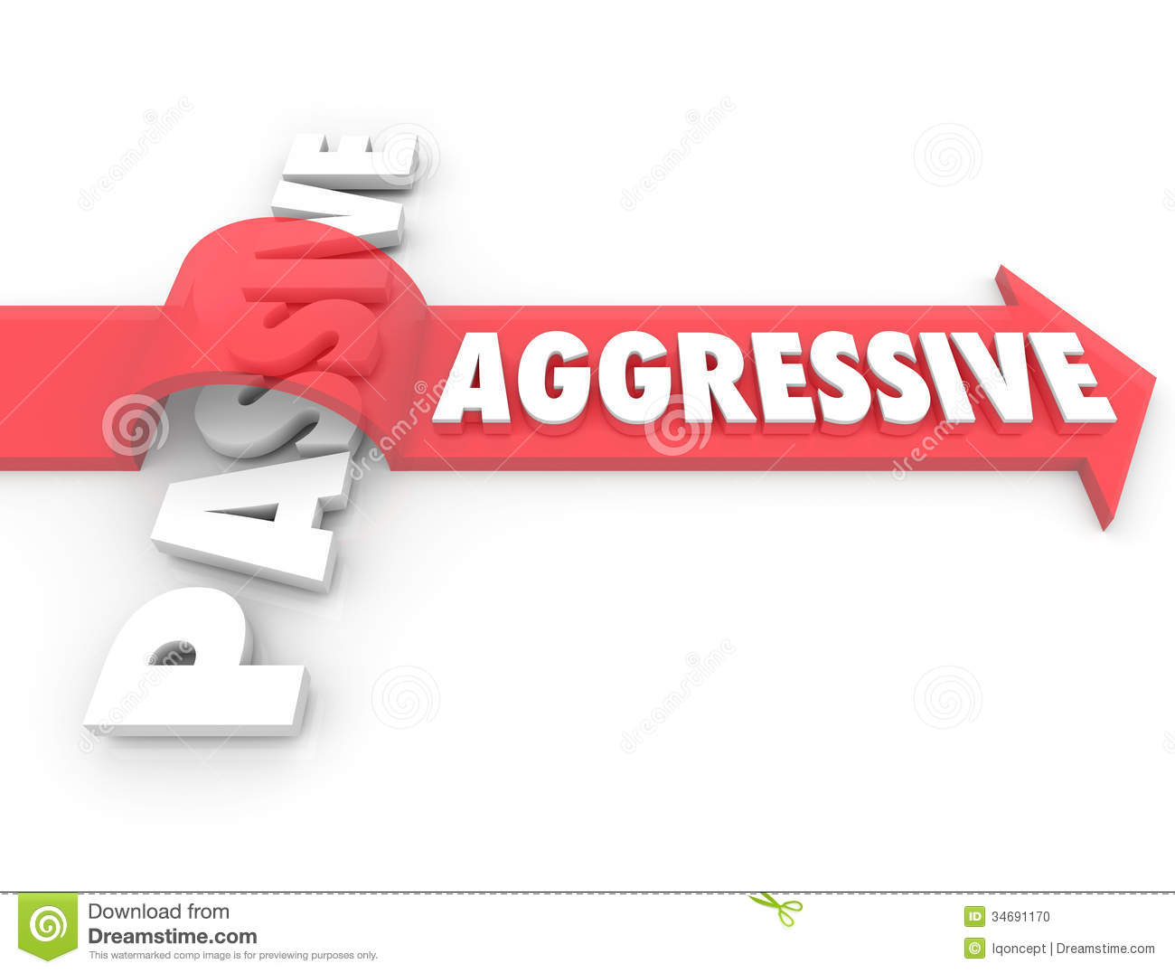 Aggressive Arrow Over Word Passive Action Vs Inaction