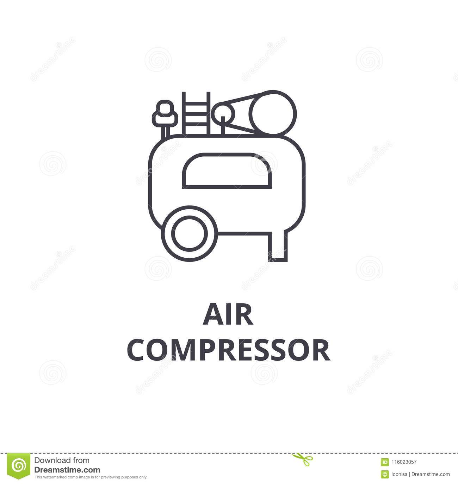 Air Compressor Icon Sign Vector Stock Vector