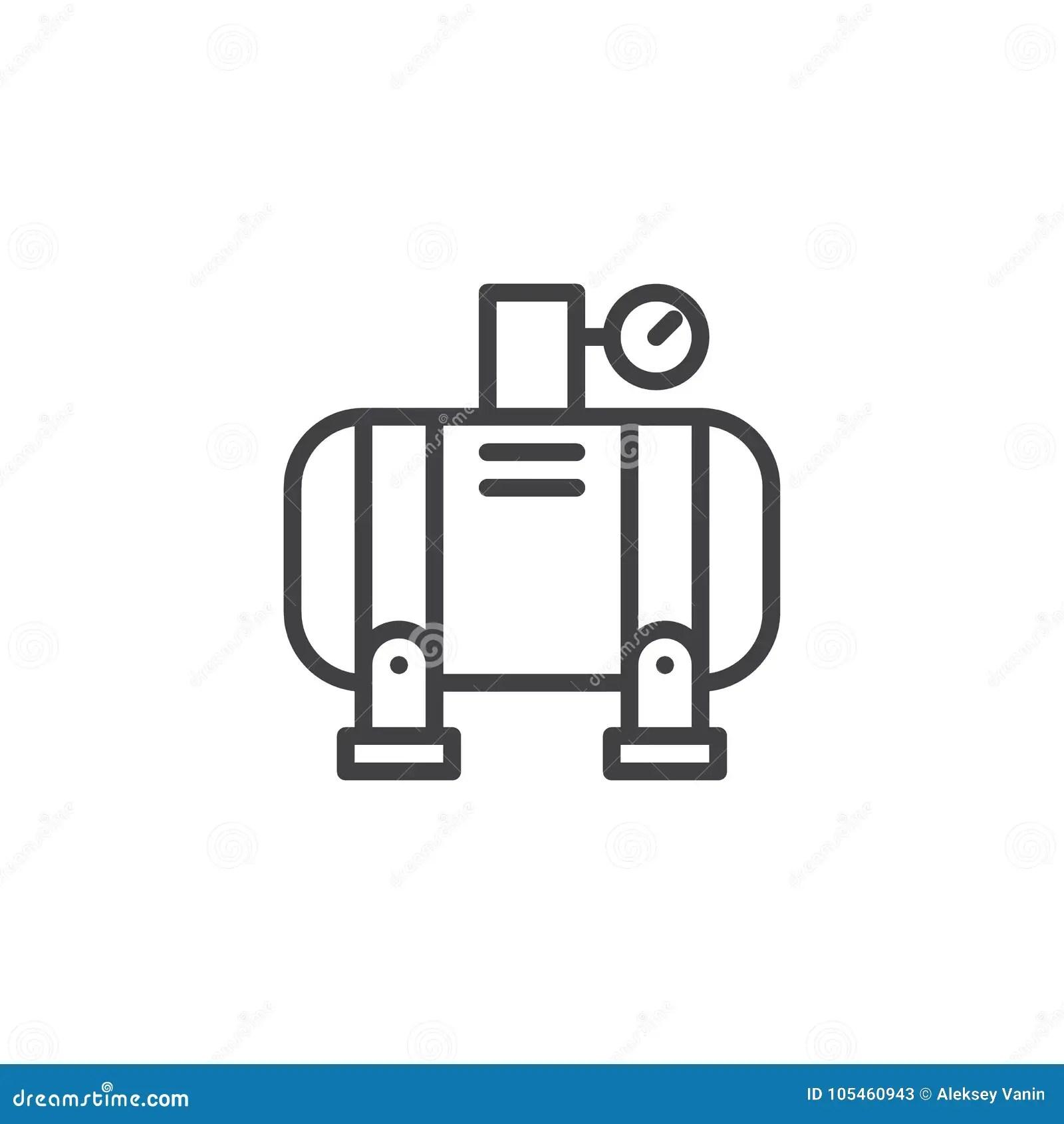 Air Compressor Line Icon Stock Vector Illustration Of