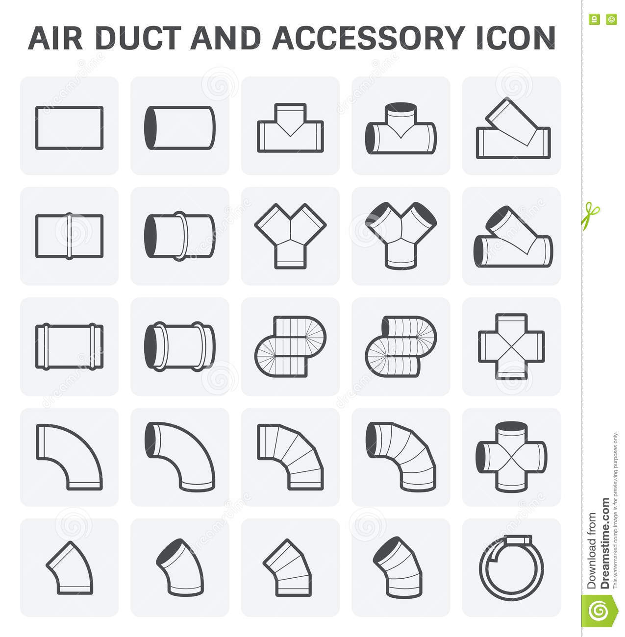 Air Duct Icon Stock Vector Illustration Of Industry
