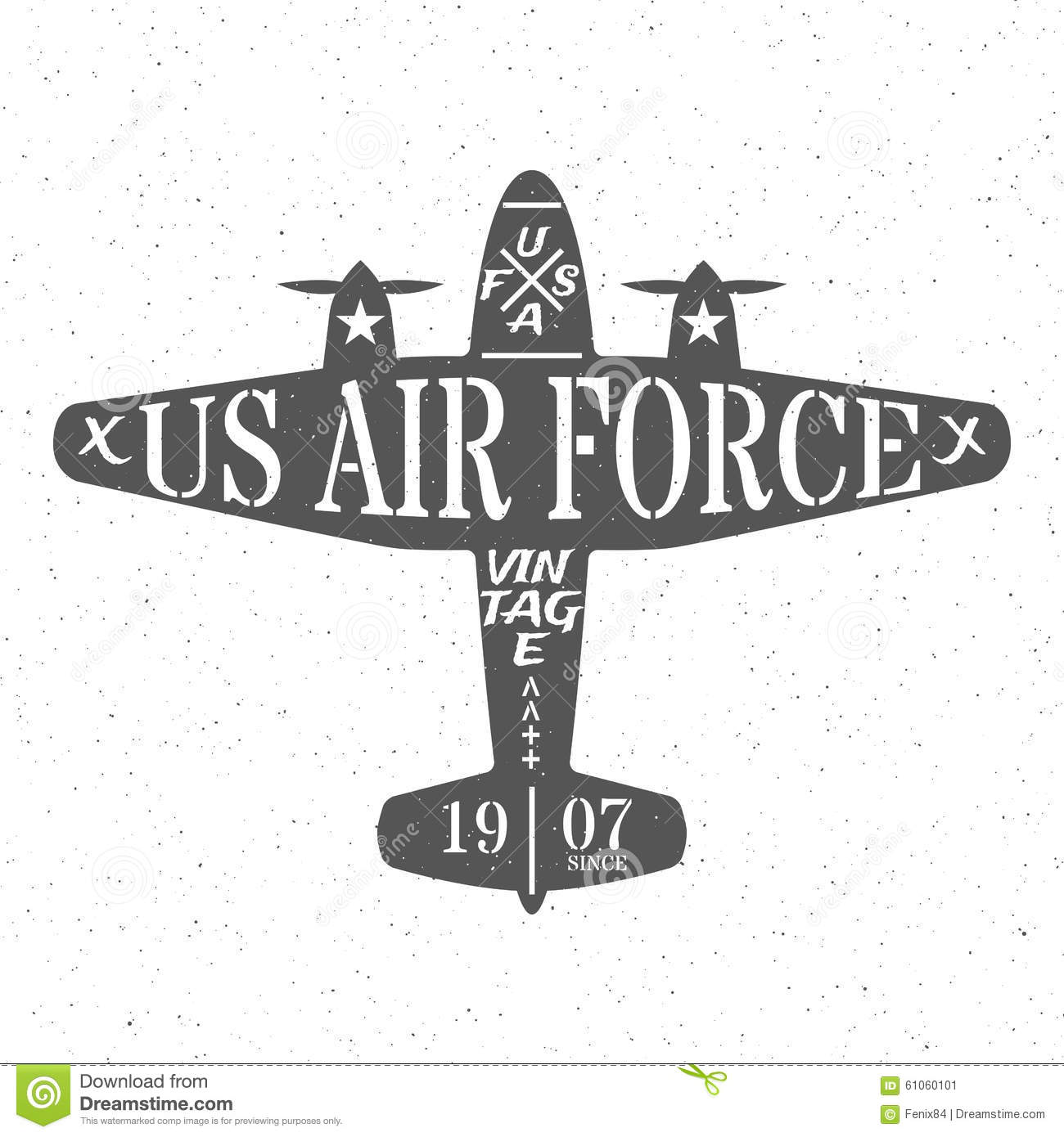 Air Force Of The United States Stock Vector