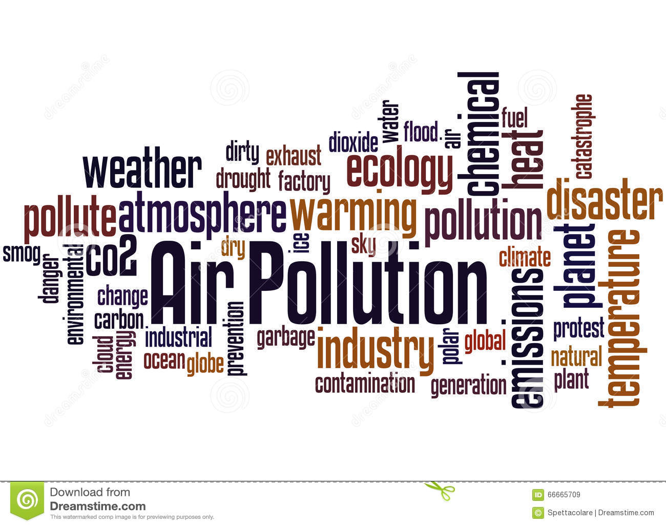 Air Pollution Word Cloud Concept 2 Stock Illustration