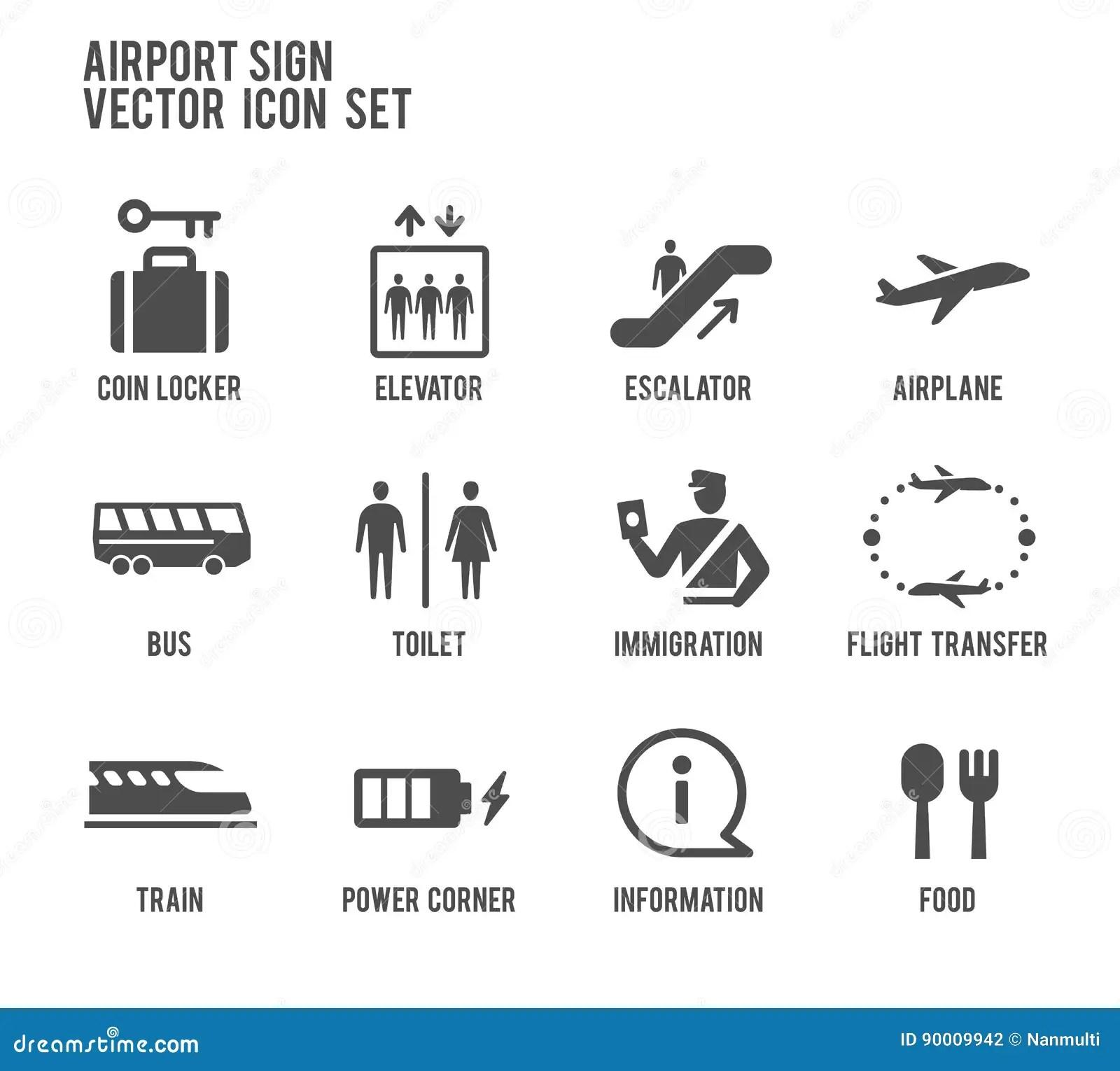 Vector Airport Icon Vector Illustration