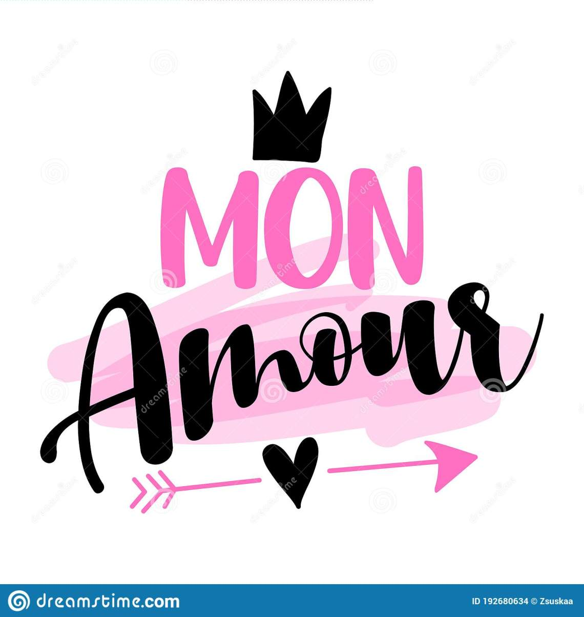 Download `mon Amour` Honey, My Love, My Darling In English Stock ...