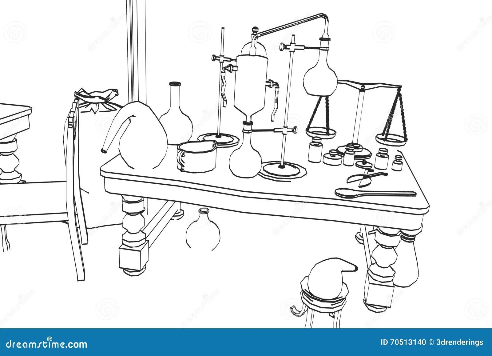 Alchemy Lab Stock Illustration