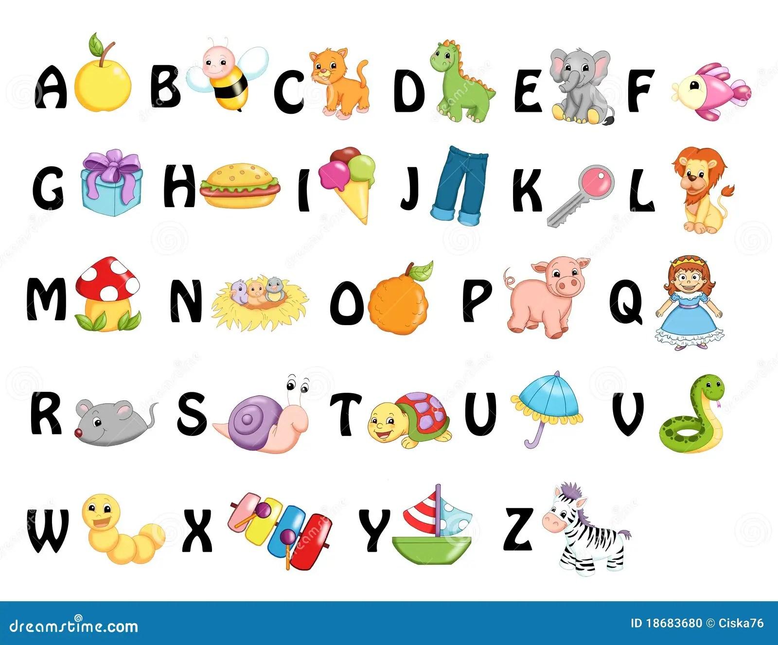 Alfabeto Illustrazione Di Stock Illustrazione Di Oggetto