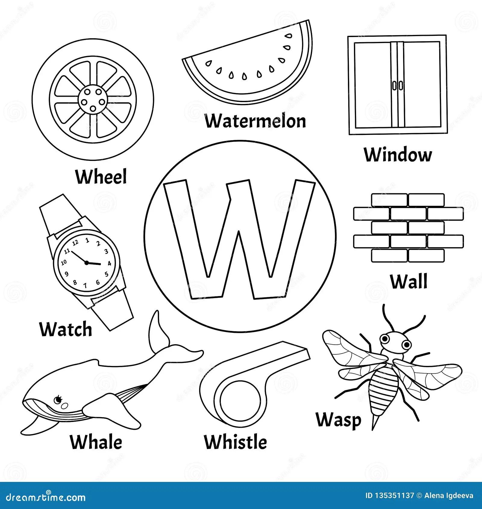 Alfabeto Sveglio Dei Bambini Di Vettore Illustrazione
