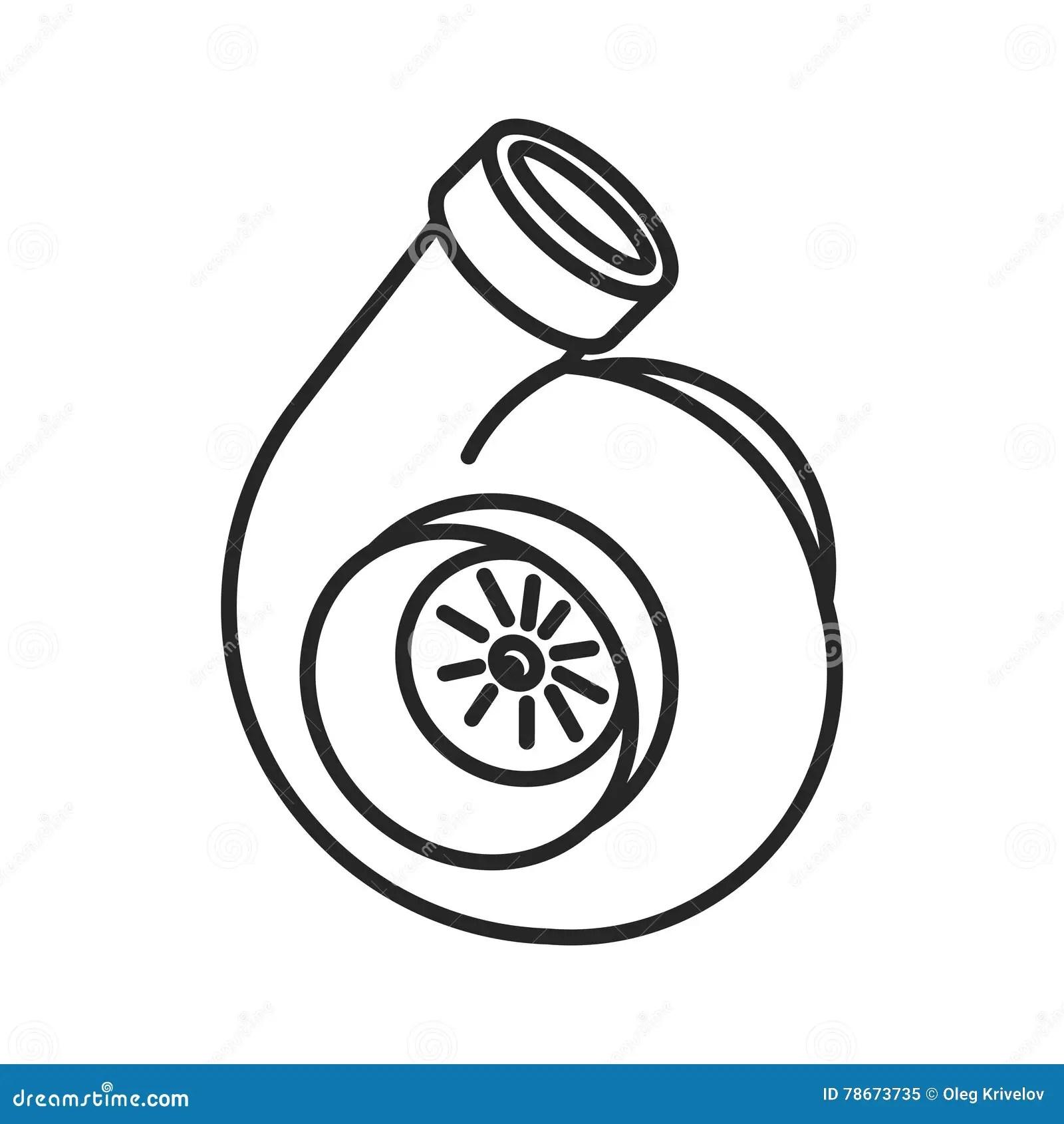 Alinha O Icone Da Turbina Ilustracao Do Vetor Ilustracao De Projeto