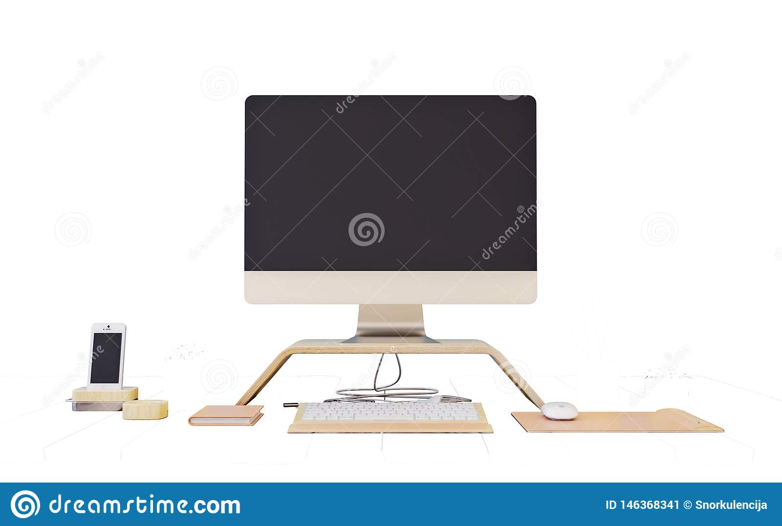 All In One Computer With Blank Screen Keyboard Mouse