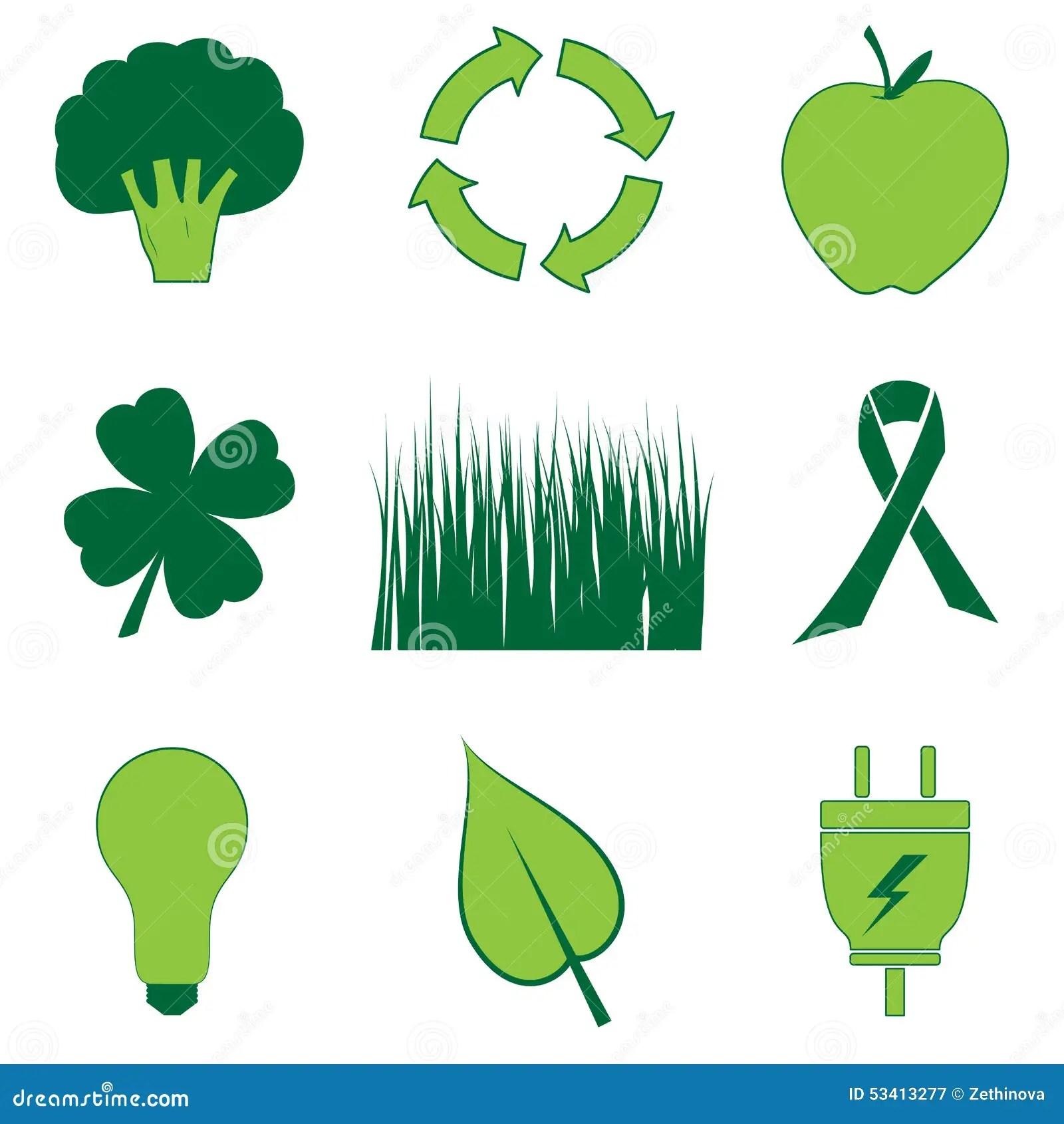 All Things Green Stock Illustration Illustration Of