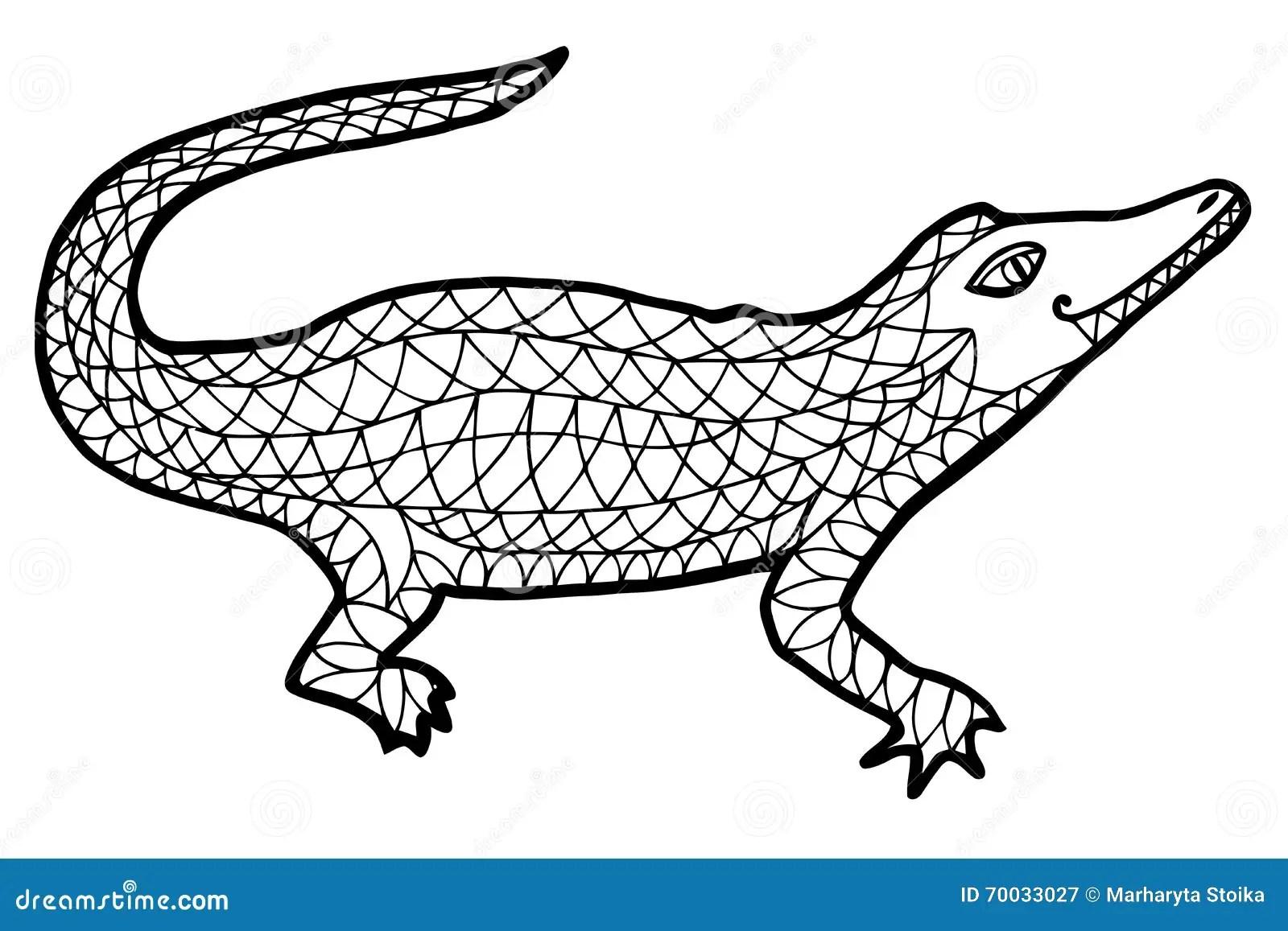 Alligator Vector Alligator Zen Tangle And Zen Doodle