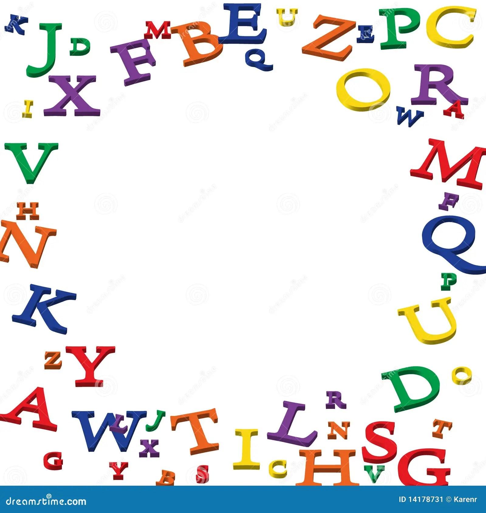 Alphabet Border Stock Image