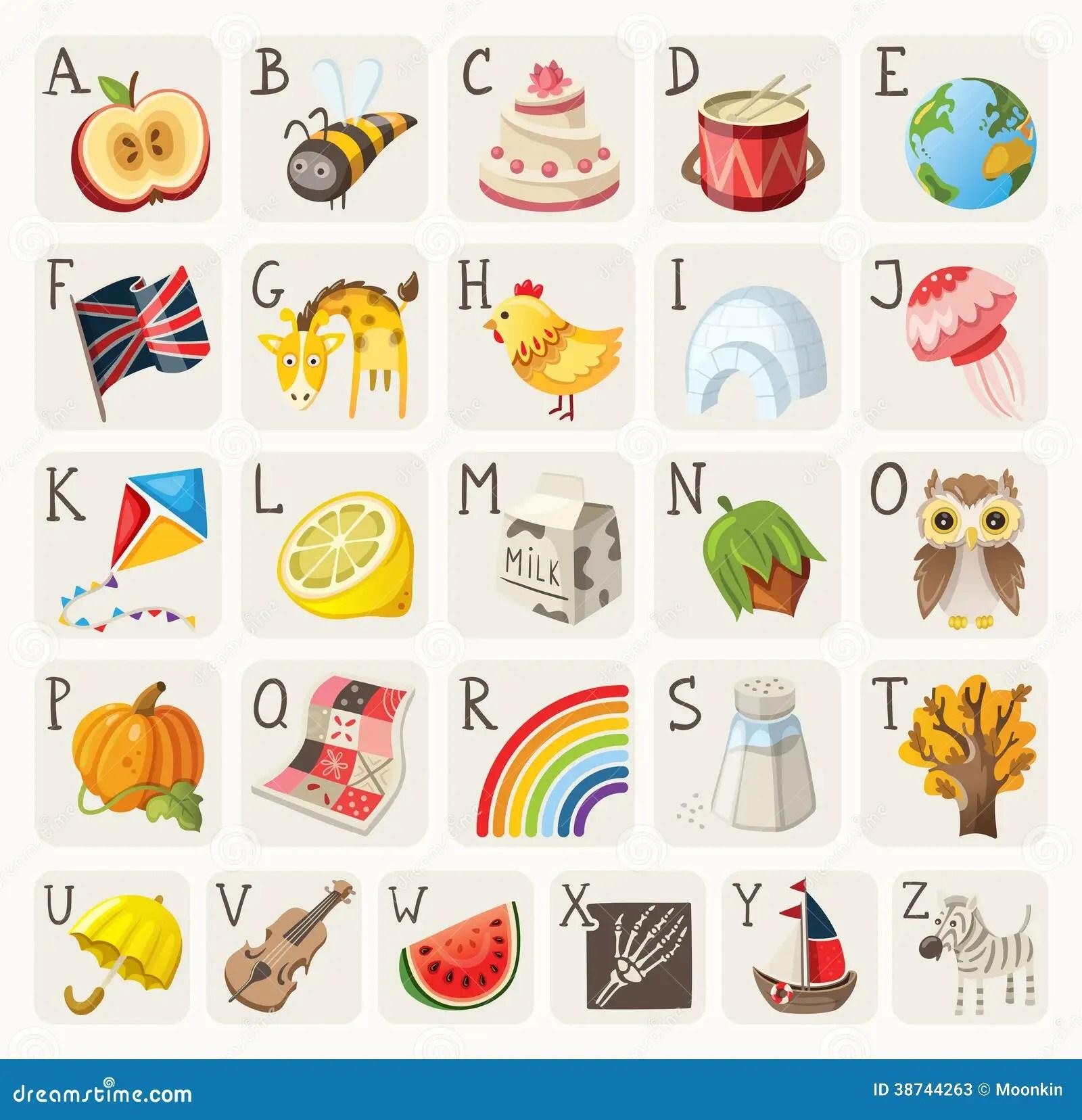 Alphabet For Children Stock Vector Illustration Of Globe