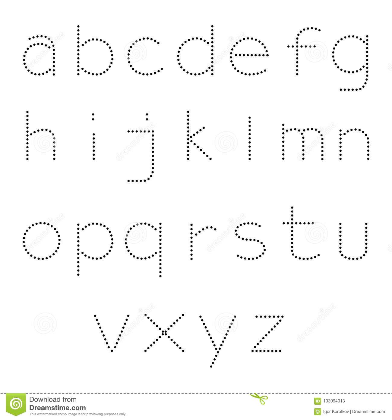 Alphabet Dot Style Strong Classic Stock Illustration