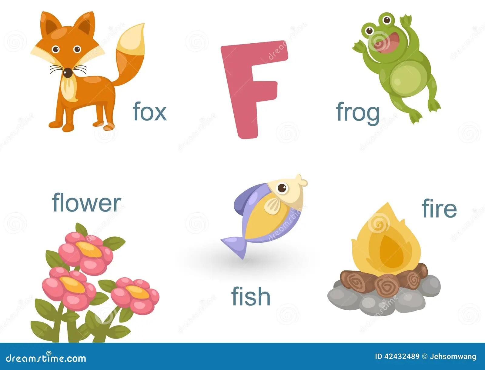 Alphabet F Stock Vector