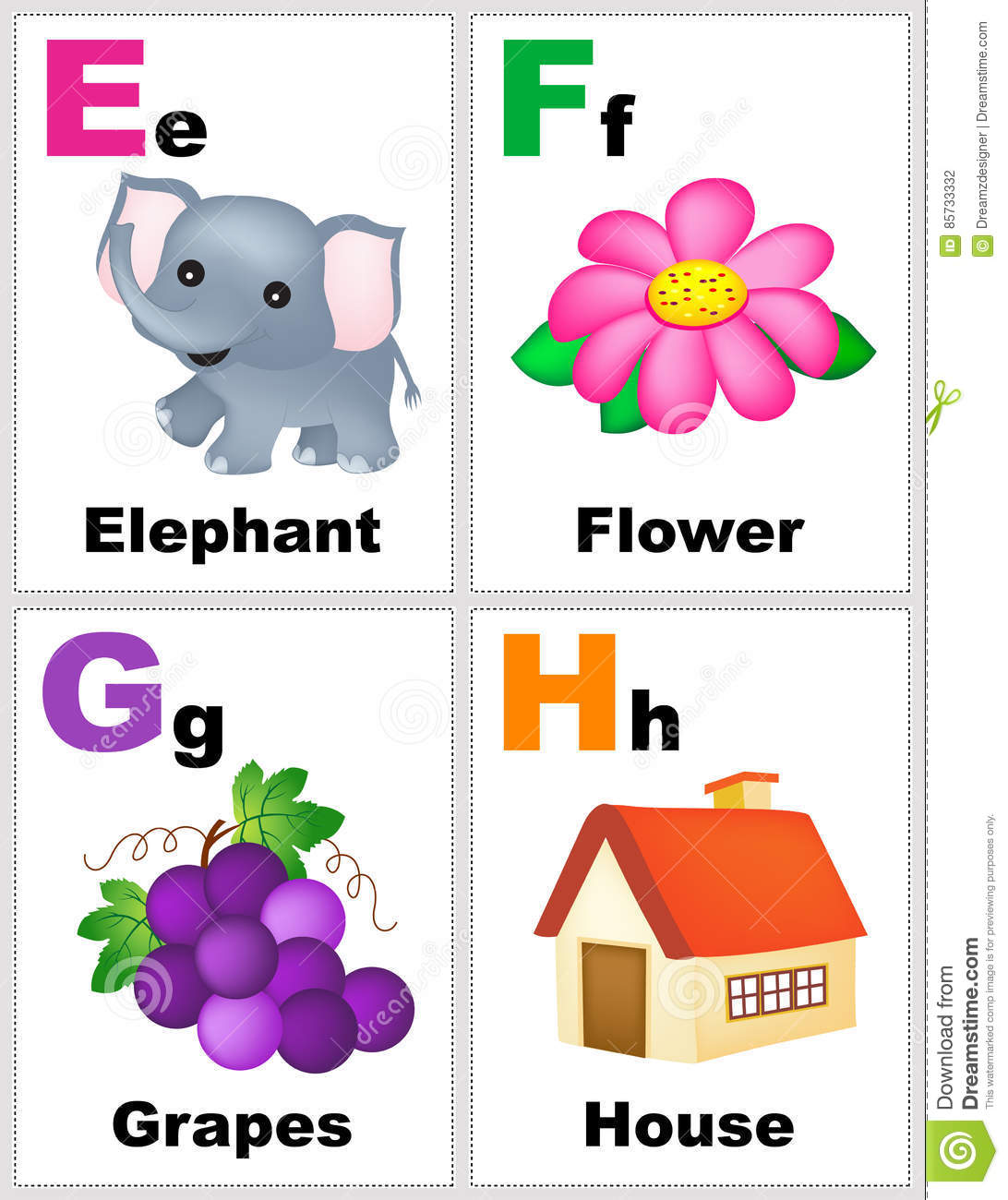 Alphabet Flashcards Royalty Free Stock Image