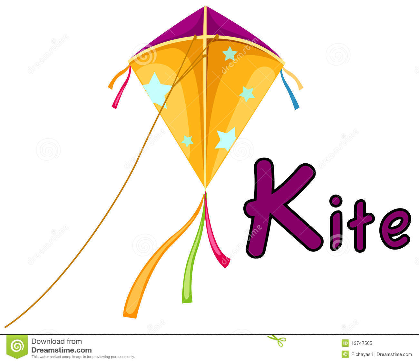Alphabet K For Kite Royalty Free Stock Photo
