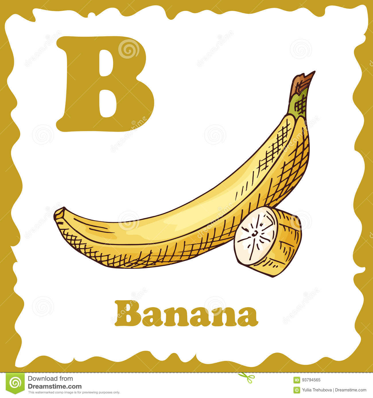 Alphabet For Kids With Fruits Healthy Letter Abc B Banana