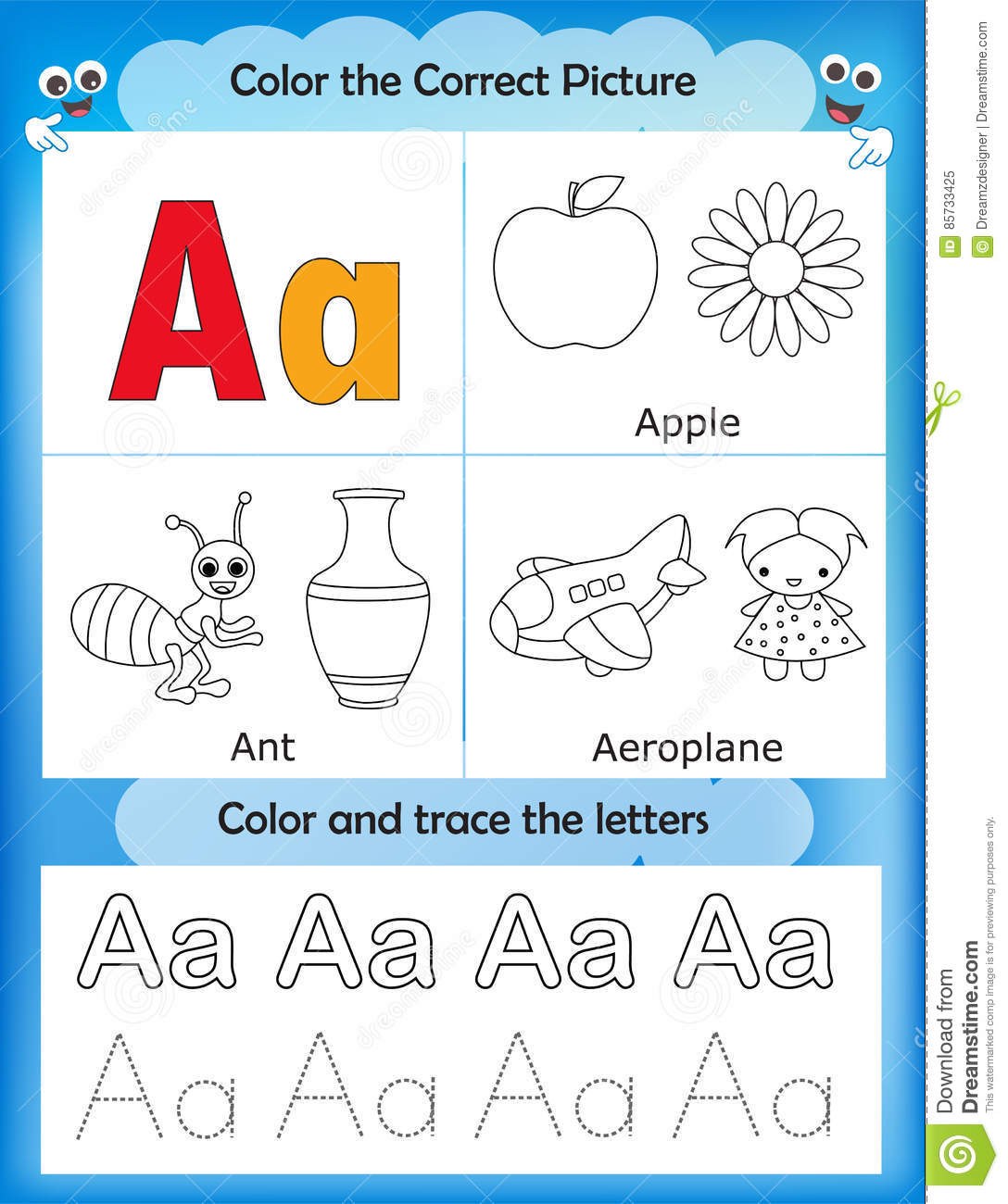 Learning Color Words Worksheet