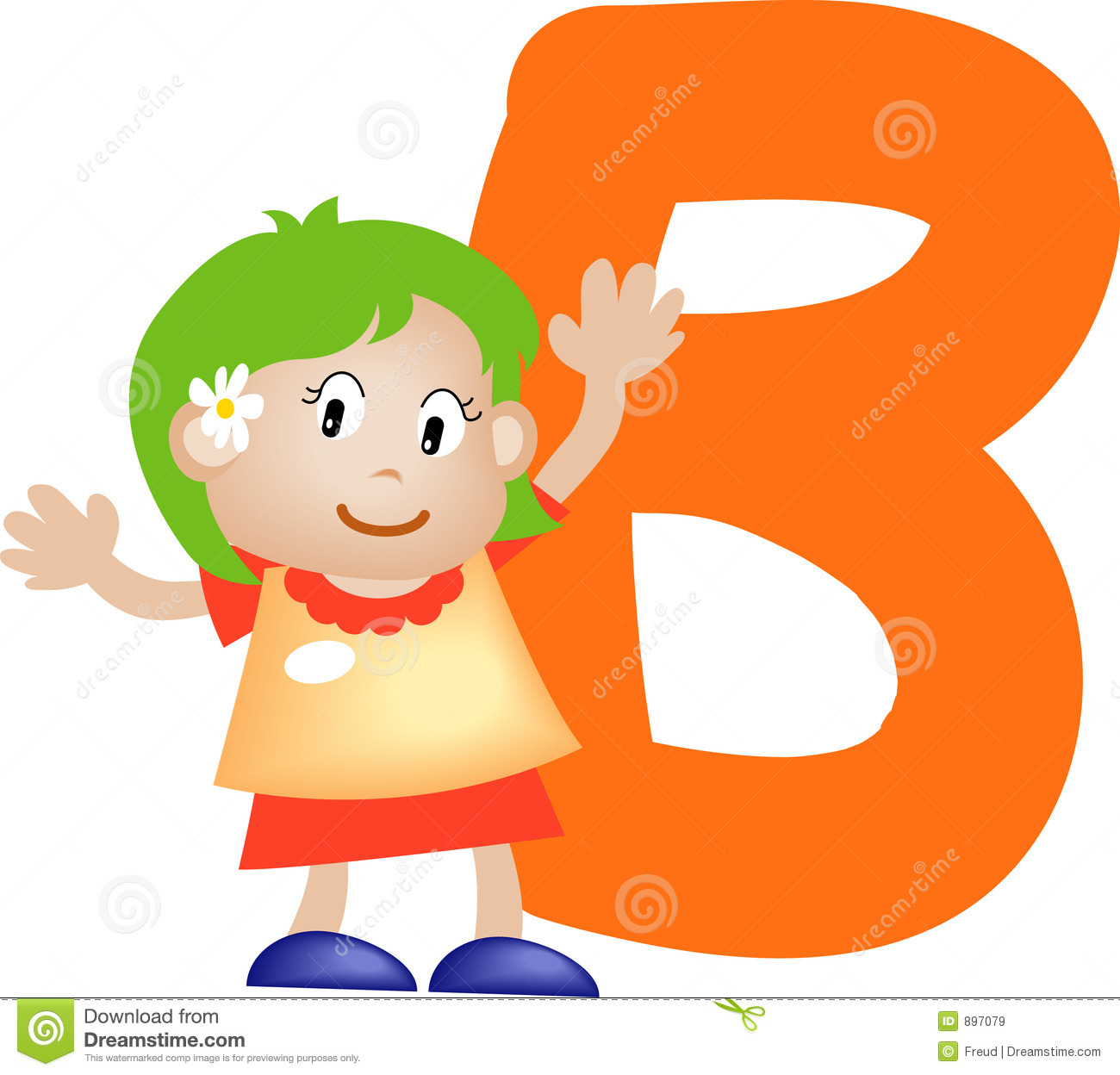 Alphabet Letter B Girl Stock Illustration Illustration