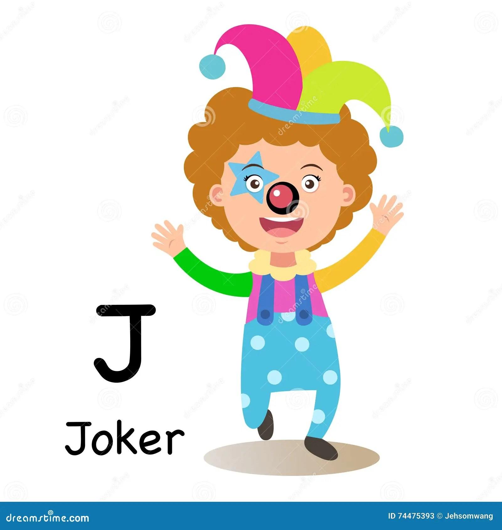 Alphabet Letter J Joker Vector Stock Vector