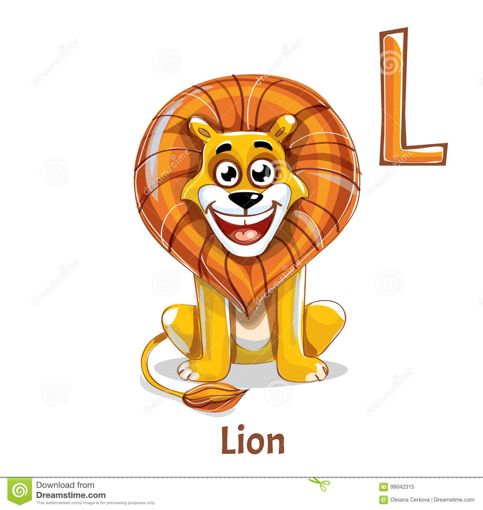 Alphabet Letter L Lion Stock Vector Illustration Of Lion