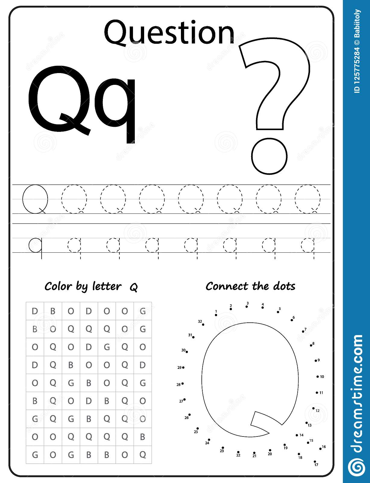 Q Worksheet For Kindergarten