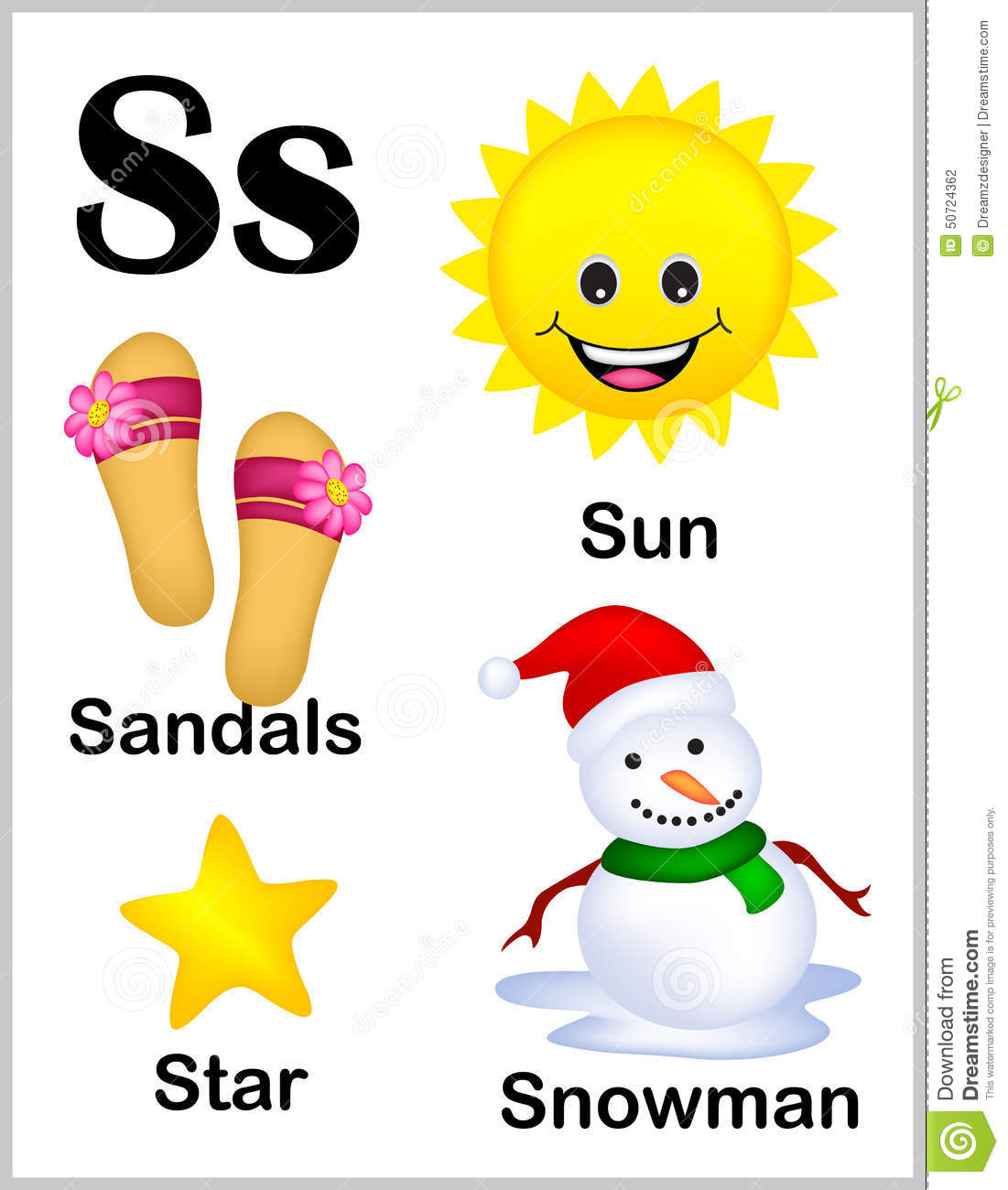 Alphabet Letter S Pictures Stock Vector