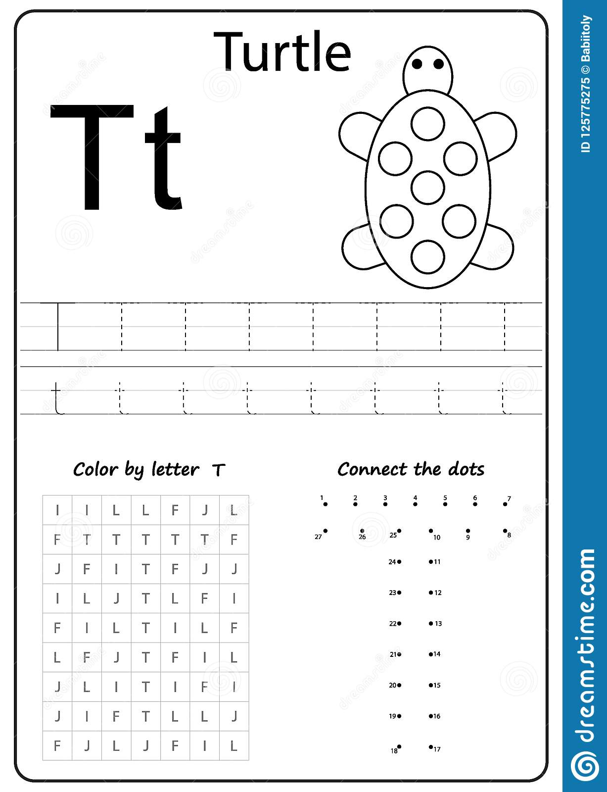 Letter T Worksheet Pumpkins