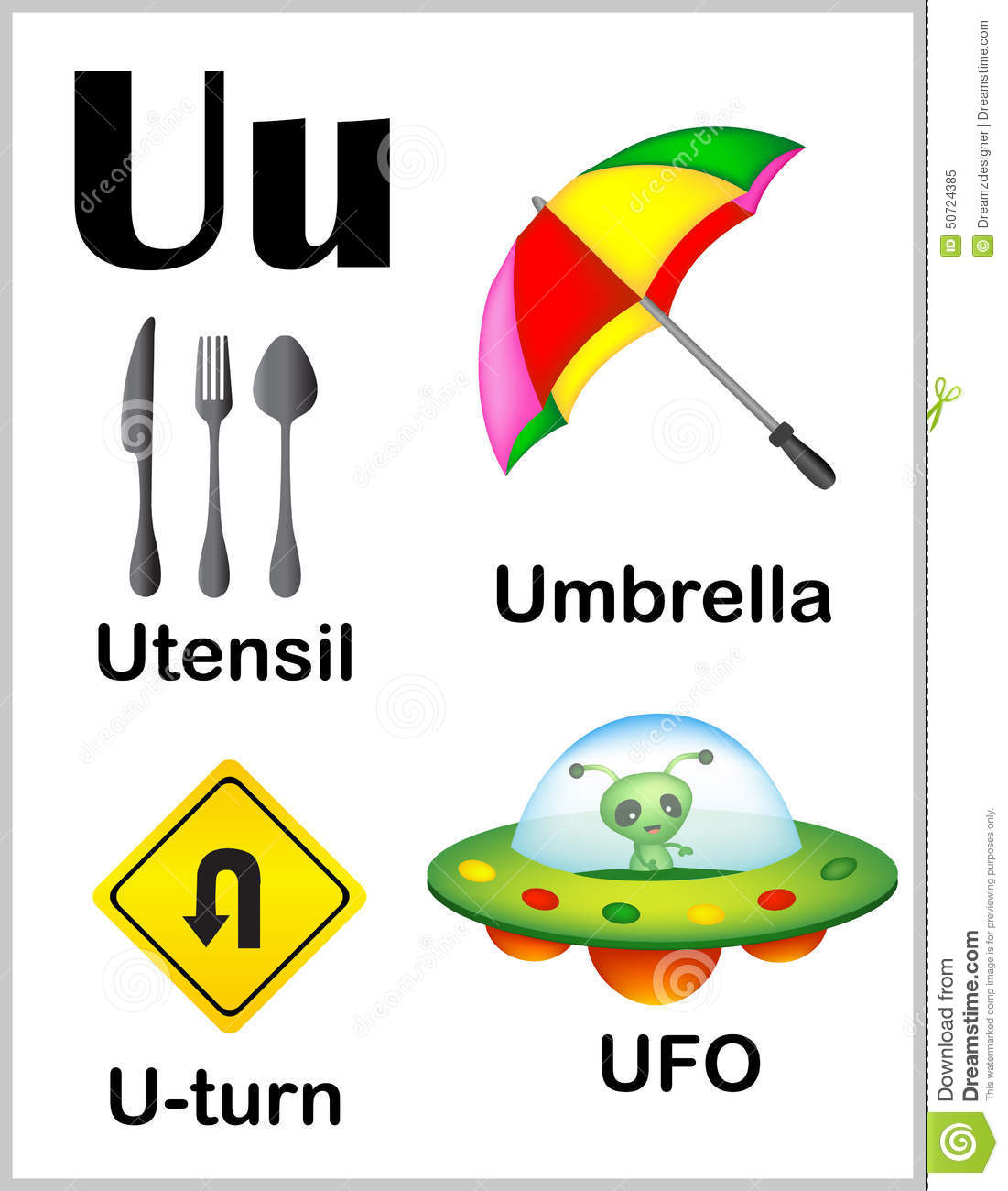 Words That Start With Letter U For Preschool