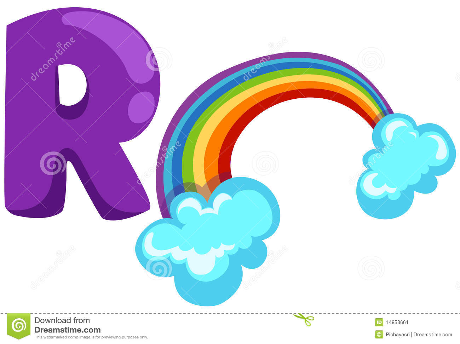 Alphabet R For Rainbow Stock Vector Image Of Language